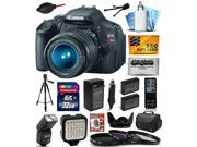 Canon EOS Rebel T3i Digital SLR Camera with EF-S 18-55mm f/3.5-5.6 IS Lens 32GB SDHC, Case, Tripod, Flash, LED Light, Two Batteries, Charger, DVD, Remote Control, Cleaning Kit, $50 Gift Card 5169B003