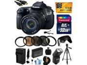 Canon EOS 60D 18 MP CMOS Digital SLR Camera with 18-135mm f/3.5-5.6 IS UD Lens with 32GB Memory + Flash + Battery + Charger + UV-CPL-FL-ND4-10x Macro Filters + Grip Strap + $50 Gift Card 4460B004