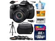 Canon EOS 60D 18 MP CMOS Digital SLR Camera with EF-S 18-200mm f/3.5-5.6 IS Lens with 32GB Memory + Large Case + Tripod + 5 Piece UV-CPL-FL-ND4-10x Filters + Cleaning Kit + $50 Gift Card 4460B016