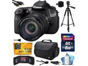 Canon EOS 60D 18 MP CMOS Digital SLR Camera with EF-S 18-200mm f/3.5-5.6 IS Lens includes 8GB Memory + Large Case + Tripod + Card Reader + HDMI Mini Cable + Cleaning Kit + $50 Gift Card 4460B016