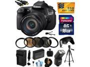 Canon EOS 60D 18 MP CMOS Digital SLR Camera with EF-S 18-200mm f/3.5-5.6 IS Lens with 16GB Memory + Flash + Battery + Charger + UV-CPL-FL-ND4-10x Macro Filters + Card Reader + $50 Gift Card 4460B016