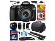 Canon EOS 60D 18 MP CMOS Digital SLR Camera with EF-S 18-200mm f/3.5-5.6 IS Lens with 16GB Memory + 2.2x Telephoto + 0.43x Wide Angle Lens + UV-CPL-FL Filters + Monopod + DVD + $50 Gift Card 4460B016