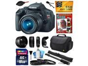 "Canon EOS Rebel T3i Digital SLR Camera with EF-S 18-55mm f/3.5-5.6 IS Lens with 16GB Memory + 2.2x + 0.43x Lens + Hood + 3 Piece Filters + 67"" Monopod + DVD + Cleaning Kit + $50 Gift Card 5169B003"
