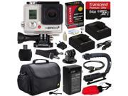 GoPro HD Hero3+ Hero 3+ Silver Edition (CHDHN302) with 64GB MicroSD, (2) Battery, Charger, European Adapter, Action Grip Handle, Case, HDMI Cable, Floating Strap, Tripod Adapter Mount, Cleaning Kit