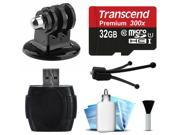 32GB MicroSD Card USB Card Reader Writer Mini Tripod with Adapter Dust Removal Cleaning Kit for GoPro Hero4 Hero3 Hero3 Hero2 Hero 4 3 3 2 1 Camera Camc