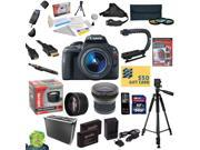 Canon EOS Rebel SL1 DSLR Camera with EF-S 18-55mm f/3.5-5.6 IS STM Lens With 32GB SDXC Card, 2 Batteries, Charger, .20x and 2.2x Lens, 3 PC Filter Kit, HDMI Cable, Case, Remote Control, Tripod + more