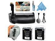 Multi Power Battery Grip + (2 Pack) Ultra High Capacity LP-E12 LPE12 Replacement Battery (2400mAh) + $50 Gift Card for Prints + Lens Cleaning Kit for Canon EOS Rebel SL1 100D DSLR SLR Digital Camera