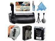 Multi Power Battery Grip + Ultra High Capacity LP-E6 LPE6 Replacement Battery (2800mAh) + $50 Gift Card for Prints for Canon EOS 6D DSLR SLR Digital Camera (BG-E13 BGE13 Replacement)