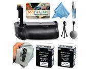 Multi Power Battery Grip + (2 Pack) High Capacity LP-E8 LPE8 Battery (2400mAh) for Canon EOS Rebel T2i T3i T4i T5i 550D 600D 650D 700D Kiss X4 X5 X6i X7i DSLR SLR Digital Camera
