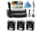Multi Power Battery Grip + (3 Pack) Ultra High Capacity LP-E8 LPE8 Battery (2400mAh) for Canon EOS Rebel T2i T3i T4i T5i 550D 600D 650D 700D Kiss X4 X5 X6i X7i DSLR SLR Digital Camera