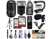 Must Have Accessory Bundle with Nikon 55-300mm VR Lens + Flash + Backpack + 128GB Memory + Microphone for Nikon DF D7200 D7100 D7000 D5500 D5300 D5200 D5100 D5000 D3300 D3200 D3100 D3000 D300S D90