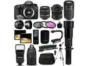 "Canon EOS 7D DSLR SLR Digital Camera with 18-55mm IS II + 6.5mm Fisheye + 55-250 IS STM + 650-2600mm Lens + Filters + 128GB Memory + i-TTL Autofocus Flash + Backpack + Case + 70"" Tripod + 67"" Monopod"