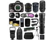 Canon EOS 5D Mark 3 DSLR SLR Digital Camera + 70-300mm IS USM + 6.5mm Fisheye + 24-105mm STM + 420-1600mm Lens + Filters + 128GB Memory + Stabilizer + i-TTL Autofocus Flash + Backpack + Case + More