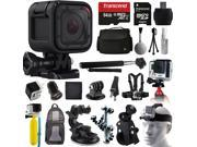 GoPro HERO4 Session HD Action Camera (CHDHS-101) + All You Need 64GB Accessories Kit with MicroSD Card + Case + Selfie Stick + Chest/Head Strap + Car/Bike Mount + Backpack + Travel Charger + More!