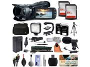 Canon VIXIA HF G20 HFG20 HD Camcorder Video Camera + 128GB Boardcasting Filmmaker's Package with LED Night Light + Tripod + Monopod + Action Stabilizer + Handgrip + Microphone + More