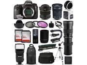 Canon EOS 6D DSLR SLR Digital Camera + 6.5mm Fisheye + 24-105mm STM + 420-1600mm Lens + Filters + 128GB Memory + Stabilizer + i-TTL Autofocus Flash + Backpack + Case + More