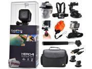 GoPro Hero 4 HERO4 Session CHDHS-101 with Headstrap + Chest Harness + Suction Cup + Handgrip + Floaty Strap + Wrist Hand Glove + Selfie Stick + Large Padded Case + HDMI Cable + Tripod adapter