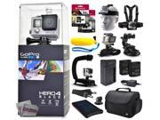 GoPro Hero 4 HERO4 Black CHDHX-401 with 96GB Ultra Memory + Solar Charger + Headstrap + Chest Harness + Floaty Bobber + Suction Cup + Opteka X-Grip + Large Padded Case + Two Batteries + Much More