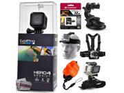 GoPro Hero 4 HERO4 Session CHDHS-101 with 32GB Ultra Memory + Suction Cup Mount + Headstrap + Chest Harness + Hand Wrist Glove + Floaty Strap