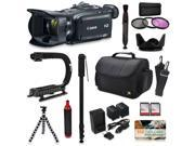 Canon XA30 HD Professional Video Camcorder + Action Kit with XGrip and HandGrip Handles + Bag + Extra Battery