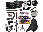 Canon XA35 HD Professional Video Camcorder + Extra Accessories, XGrip and HandGrip handles + Monopod + LED + Mic + Lense