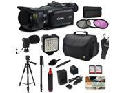 Canon XA35 HD Professional Video Camcorder + Core Accessories, Tripod + Monopod + Bag + LED + Mic + Filters + Battery