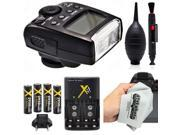 Opteka E-TTL Auto-Focus Dedicated Flash Speedlite (IF-500) with Battery Kit for Canon EOS 70D, 60D, 60Da, 50D, 1Ds, 7D, 6D, 5D, 5DS, Rebel T6s, T6i, T5i, T5, T4i, T3i, T3 and SL1 Digital SLR Cameras