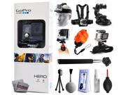 GoPro HERO Action Camera CHDHA-301 with Headstrap + Chest Harness Mount + Car Suction Cup + Handgrip Stabilizer + Floaty Strap + Wrist Glove Strap + Selfie Stic 9SIA04D3E08856