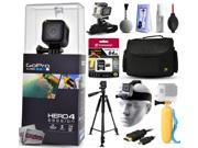 GoPro Hero 4 HERO4 Session CHDHS-101 with 64GB Ultra Memory + Large Padded Case + 60? Pro Series Tripod + Headstrap Mount + Floaty Bobber + HDMI Cable + Wrist Glove + Cleaning Kit