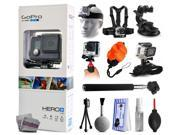 GoPro HERO+ LCD CHDHB-101 with Headstrap + Chest Harness Mount + Car Suction Cup + Handgrip Stabilizer + Floaty Strap + Wrist Glove Strap + Selfie Stick + Tripo 9SIA04D3E08995