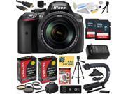 Nikon D5300 24.2MP Digital SLR Camera with 18-140mm f/3.5-5.6G ED VR AF-S DX Zoom Lens + 128GB + Card Reader + Tripod + Case + HDMI Cable + Extra Battery + Char 9SIA04D1VP2362