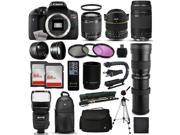 Canon EOS Rebel T6i DSLR Digital Camera + 18-55mm IS STM + 6.5mm Fisheye + 75-300mm III + 420-1600mm Lens + Filters + 128GB Memory + i-TTL Autofocus