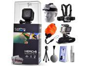 GoPro Hero 4 HERO4 Session CHDHS 101 with Headstrap Chest Harness Mount Wrist Glove Strap Floaty Bobber Mini Tripod Cleaning Kit