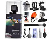GoPro Hero 4 HERO4 Session CHDHS-101 with Headstrap + Chest Harness Mount + Car Suction Cup + Handgrip Stabilizer + Floaty Strap + Wrist Glove Strap + Selfie St 9SIA04D3E09024