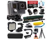 GoPro HD HERO Waterproof Action Camera Camcorder CHDHA 301 with 32GB MicroSD Card Monopod Selfie Stick Car Charger LED Night Video Light Head Strap