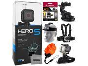 GoPro HERO5 Session CHDHS-501 with 32GB Ultra Memory + Suction Cup Mount + Headstrap + Chest Harness + Hand Wrist Glove + Floaty Strap 9SIA04D50Y0521