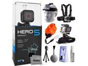 GoPro HERO5 Session CHDHS-501 with Headstrap + Chest Harness Mount + Wrist Glove Strap + Floaty Bobber + Mini Tripod + Cleaning Kit