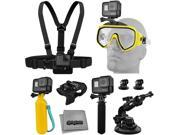 Accessory Kit for GoPro HERO5 Black / Session 4K Action Camera w/ Scuba Diving Mask, HandGrip, Floating Handle, Chest Strap, Wrist/Glove Mount, Tripod Adapter, 9SIA04D53R1471