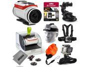 TomTom Bandit 4K Action Camera with 32GB Ultra Memory + Suction Cup Mount + Headstrap + Chest Harness + Hand Wrist Glove + Floaty Strap 9SIA04D56R6363