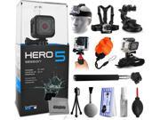 GoPro HERO5 Session CHDHS-501 with Headstrap + Chest Harness Mount + Car Suction Cup + Handgrip Stabilizer + Floaty Strap + Wrist Glove Strap + Selfie Stick + T 9SIA04D50Y0508