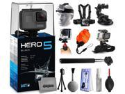 GoPro HERO5 Black CHDHX-501 with Headstrap + Chest Harness Mount + Car Suction Cup + Handgrip Stabilizer + Floaty Strap + Wrist Glove Strap + Selfie Stick + Tri 9SIA04D52P3752