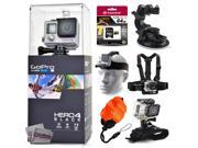 GoPro Hero 4 HERO4 Black CHDHX-401 with 64GB Ultra Memory + Suction Cup Mount + Headstrap + Chest Harness + Hand Wrist Glove + Floaty Strap 9SIA04D3E08976