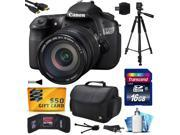 Canon EOS 60D 18 MP CMOS Digital SLR Camera with EF-S 18-200mm f/3.5-5.6 IS Lens includes 16GB Memory + Large Case + Tripod + Card Reader + Card Wallet + Cleani 9SIA04D28V3585