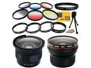 Professional .20x Super Wide Angle HD Lens + .35x Macro Fisheye Adapter Lens + UV Filter + Close Up Macro Filter Set + 6 Piece Graduated Effects Filters Accesso