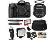 Nikon D7200 24.2 MP DX-Format Wi-Fi DSLR Digital Camera with 18-55mm f/3.5-5.6G VR II DX + UV Filter + 32GB Memory + i-TTL Flash + Video Light + Extended Batter