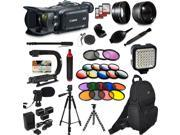 Canon XA30 HD Professional Video Camcorder + Extra Accessories, XGrip and HandGrip handles + Monopod + LED + Mic + Lense 9SIA04D3Y40243