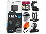 GoPro HERO5 Session CHDHS-501 with 64GB Ultra Memory + Suction Cup Mount + Headstrap + Chest Harness + Hand Wrist Glove + Floaty Strap 9SIA04D50Y0535