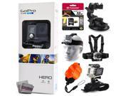 GoPro HERO Action Camera CHDHA-301 with 32GB Ultra Memory + Suction Cup Mount + Headstrap + Chest Harness + Hand Wrist Glove + Floaty Strap 9SIA04D3E08849