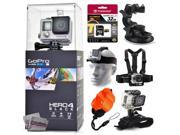 GoPro Hero 4 HERO4 Black CHDHX-401 with 32GB Ultra Memory + Suction Cup Mount + Headstrap + Chest Harness + Hand Wrist Glove + Floaty Strap 9SIA04D3E08918