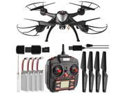 Dynamic Aerial Systems X4 Sentinel 2.4GHz 4CH 6-Axis Gyro RC Quadcopter Drone with 2MP Camera & Large LED Lights with 3 Additional Extended Batteries